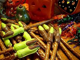 a fridge full of food halloween candy witch u0027s fingers on