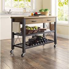 kitchen island with trash bin kitchen island industrial small kitchen island cart with two