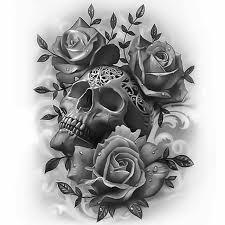 the 25 best skull rose tattoos ideas on pinterest skulls and