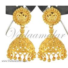 gold jhumka earrings jhumki jhumka jhumkas jumkha indian earring earstuds