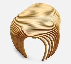 Wooden Design Contemporary Bench In Wooden Ribs Structure U2022 F U R N I T U R E