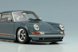 singer porsche blue grey porsche singer 911 by make up co ltd 1 43 scale choice gear
