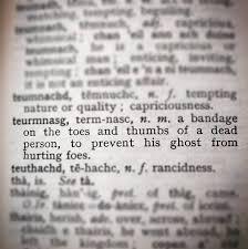 gaelic has some weird words scotland