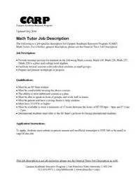 Mathematics Teacher Resume Sample by Download Math Tutor Resume Haadyaooverbayresort Com