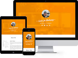 profile free html5 bootstrap template for personal and vcard