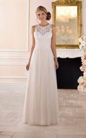 wedding dresses high high neck wedding dress with lace back stella york