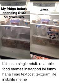 Fridge Meme - my fridge before spending 100 on groceries celeb after celeb life