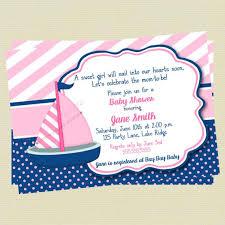baby girl invitations sailboat baby shower invitations nautical baby girl shower