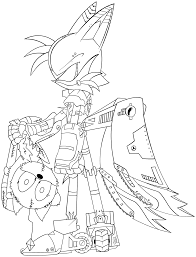 mecha tails lineart by trakker on deviantart