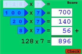 maths grid method worksheet u0026 sorting grid method multiplication
