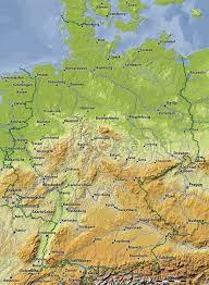 Maps Of Germany by Relief Maps Indiecartographer