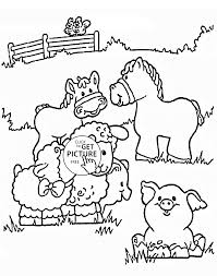 farm animals for kids coloring page free download