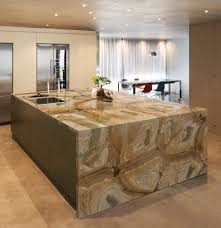 big kitchen island designs decor large kitchen island with sink and waterfall countertop also