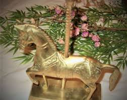 Carousel Horse Centerpiece by Brass Carousel Horse Etsy