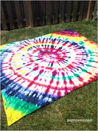 Tie Dye Bed Set Tie Dye Sheet Picnic Blanket Bed Sheet Popcosmo