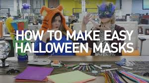 how to make easy halloween masks crafty at home youtube