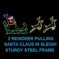 lighted outdoor decorations lighted santa claus decorations