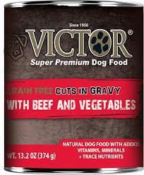 victor grain free beef u0026 vegetables entree in gravy canned dog