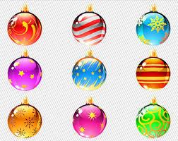 colorful ornaments clipart balls