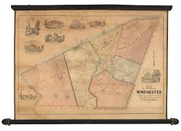 Map Of Massachusetts Cities Towns by The First Printed Map Of Winchester Mass Rare U0026 Antique Maps