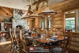 Maine Dining Room Milled Log Home Dining Room Maine Log Home Precisioncr Flickr