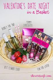 date basket ideas diy glitter chagne bottles and a s date in a basket