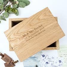 personalised keepsake box personalised oak keepsake memory box create gift