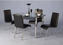 Black Glass Dining Table And 4 Chairs Birmingham Furniture Cjcfurniture Co Uk Dining Sets