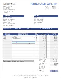 Free Purchase Order Template Excel Free Purchase Order Template With Price List