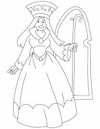 queen holding scepter coloring pages download free queen