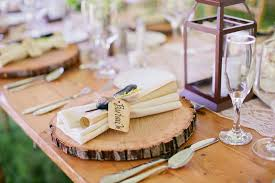 Table Setting Chargers - rustic wedding table setting topup wedding ideas