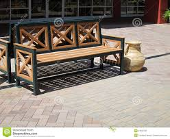 Outdoor Wooden Benches Outdoor Wooden Bench Stock Photography Image 21655732