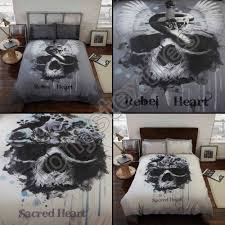 black hearts and skull bedding king size skull bedding king size