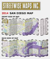 San Diego Map Neighborhoods by Streetwise San Diego Map Laminated City Center Street Map Of San