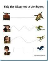 color number train dragon 2 printables