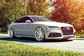 audi a8 alloys vossen vfs1 wheels silver with brushed rims