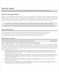 resume template free 10 executive administrative assistant resume templates free