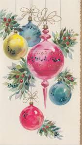 vintage christmas card retro holiday vintage christmas ornaments