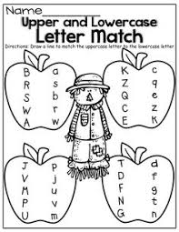 alphabets worksheets match upper case and lower case letters 9