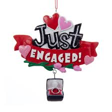 4 4 resin just engaged sign ornament justengaged 1st