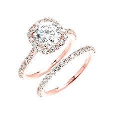 gold wedding rings sets gold wedding set rings blushingblonde