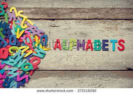colorful words play made wooden letters stock photo 282535466