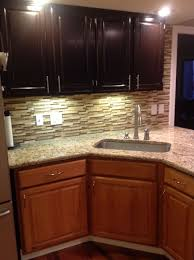 can i stain my kitchen cabinets gel staining my kitchen the bottom is the old golden oak and the