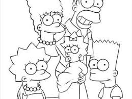 simpsons coloring pages the simpsons step 6 coloring page free