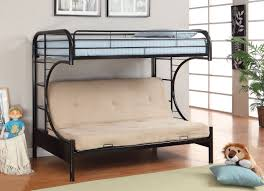 Black Futon Bunk Bed Westminster Silver Metal Futon Bunk Bed Black White