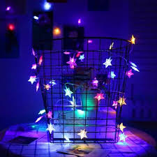 battery operated star lights lights 30 fairy multi colored colorful led star lights battery