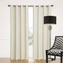 Spotlight Continuous Curtaining Sorrento Blockout Eyelet Curtain Ecru Off White Quickfit