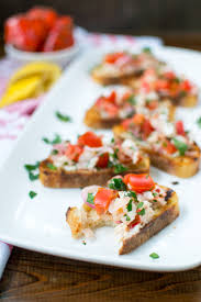 lobster roll bruschetta omg appetites anonymous
