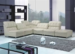Leather Tufted Sectional Sofa Button Tufted Off White Leather Sectional Sofa Set Kansas 3 369 00