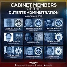 Number Of Cabinet Members List Of Cabinet Secretaries Duterte Centerfordemocracy Org